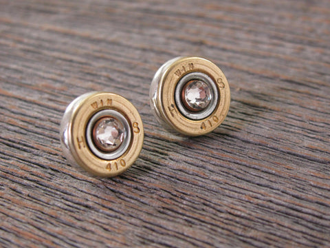 410 Gauge Shotshell Stud Bullet Earrings