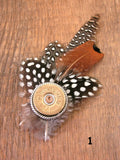12 Gauge Shotshell Feather Hat Pins-SureShot Jewelry