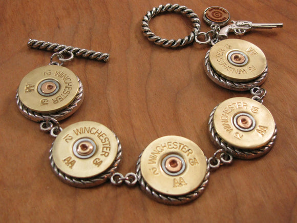 12 Gauge Shotshell Bracelet-SureShot Jewelry
