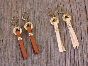 410 Gauge Deerskin Lace Leverback Earrings-SureShot Jewelry