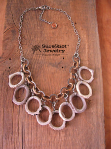 Stunning Geometric Multi-Antler Hoop Statement Necklace-SureShot Jewelry