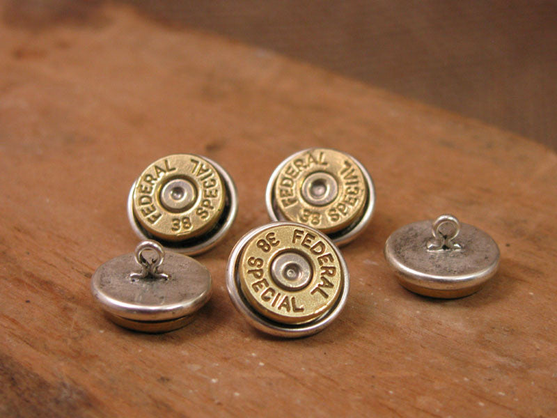 Bullet Casing Shirt Buttons / Button Shanks