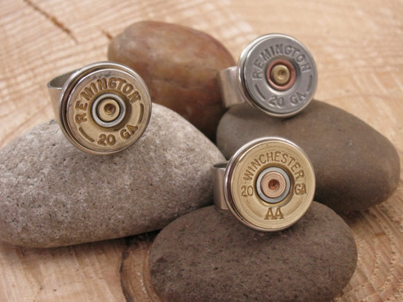 20 Gauge Shotshell Adjustable Rings-SureShot Jewelry
