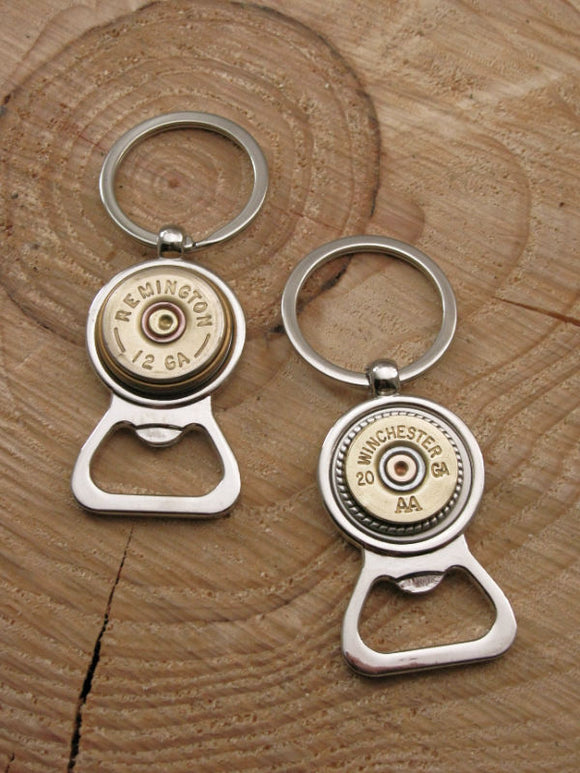 Shotshell Bottle Opener Key Chain / Key Ring