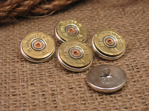 Brass 20 Gauge Shotgun Casing Shirt / Blazer Buttons / Button Shanks