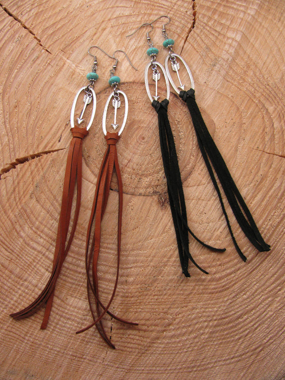 Follow Your Arrow Long Tassel Earrings - Shoulder Dusters-SureShot Jewelry