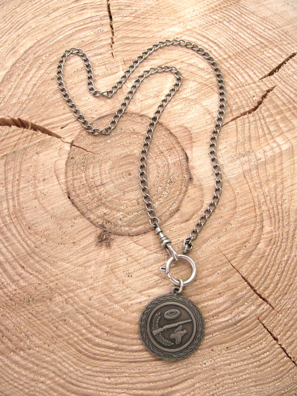 Vintage Skeet/Trap Shooting Medallion Necklace-SureShot Jewelry