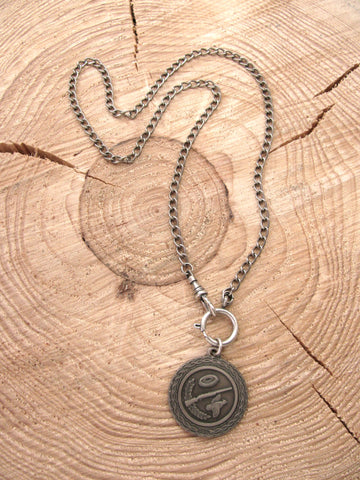 Vintage Skeet/Trap Shooting Medallion Necklace