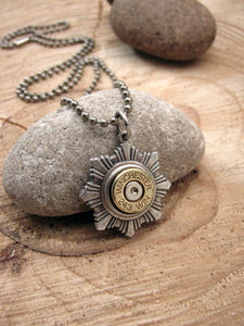 Men's Star Medallion Bullet Necklace