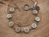 Bullet Bracelet - Choice or Brass or Nickel Casings - Great for Layering-SureShot Jewelry