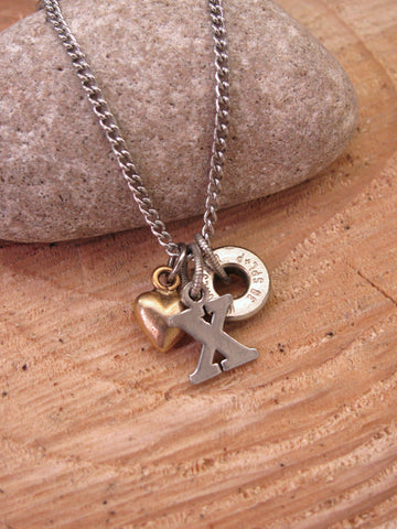 Hugs & Kisses (X & O) Petite Bullet Necklace