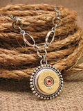Bullet Necklace - 20 Gauge Shotgun Casing Medallion Necklace - SureShot Bullet Designs
