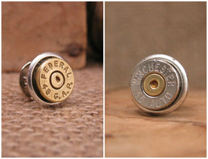 Bullet Tie Tack / Lapel Pin / Hat Pin-SureShot Jewelry