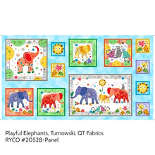 Load image into Gallery viewer, Playful Elephants by Turnowski for QT Fabrics