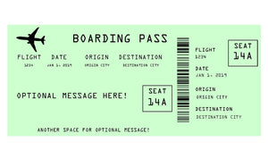 Airline Boarding Pass Ticket Template - Green