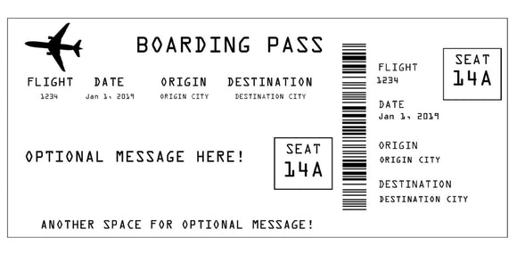 Airline Boarding Pass Ticket Template - White