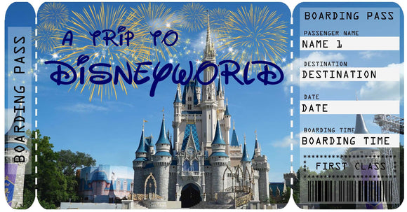 Disneyworld Vacation Ticket Template - Castle