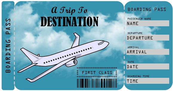 Airplane Boarding Pass Ticket Template