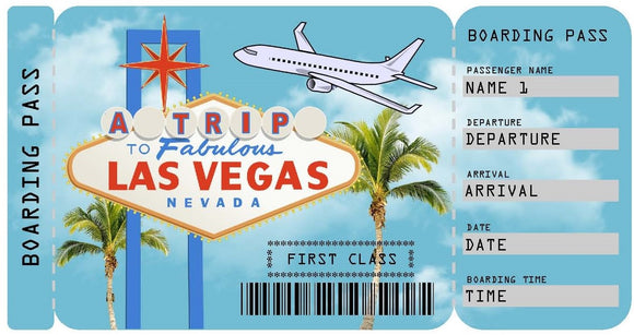 Ticket to Las Vegas Boarding Pass Template