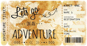 Let's Go On An Adventure Trip Ticket Template