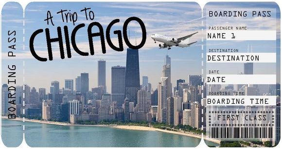 Ticket to Chicago Boarding Pass Template - Day