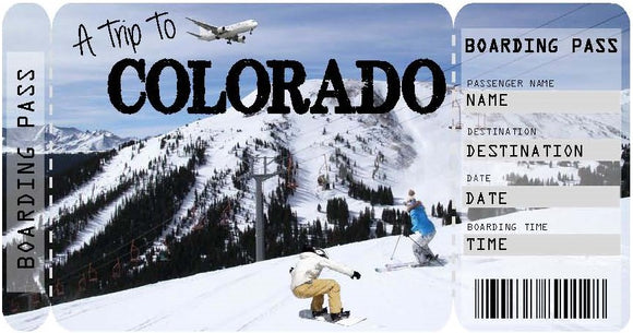 Ticket to Colorado Boarding Pass Template