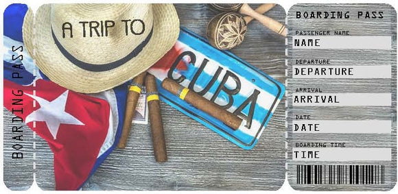 Ticket to Cuba Boarding Pass Template