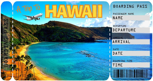 Ticket to Hawaii Boarding Pass Template