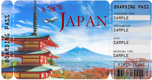 Ticket to Japan Boarding Pass Template