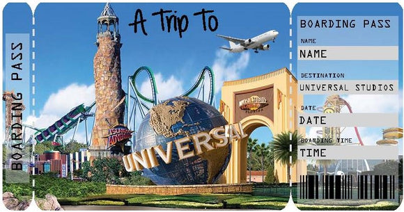Ticket to Universal Studios Boarding Pass Template