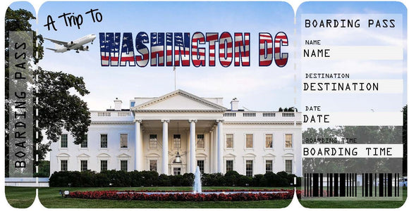 Ticket to Washington DC Boarding Pass Template