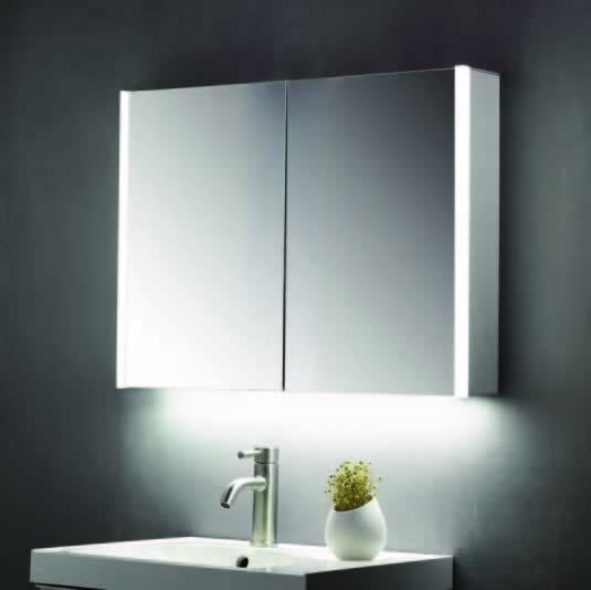 600 x 700mm Mirror Cabinet with LED Strips & Shaver Socket - ABS3102