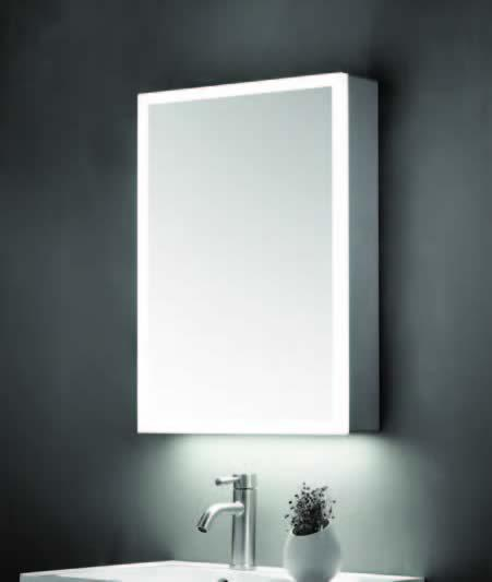 500 x 700mm Mirror Cabinet with LED Surround & Shaver Socket - ABS3103
