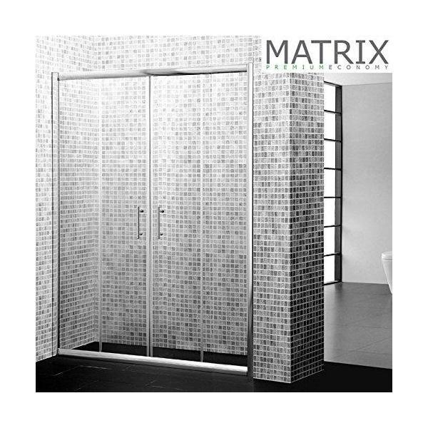 Matrix 1500mm Premium Economy Double Sliding Shower Door 6mm Glass - SPE15