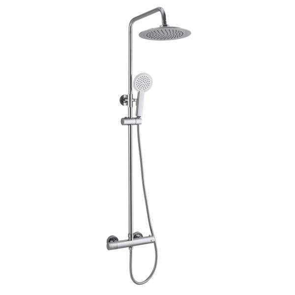 200mm Round Thermostatic Overhead Shower Kit - ABS0002