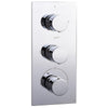 Round Concealed Thermostatic 3 Handle 2 Way Shower Valve - ABS0028