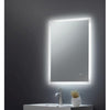 Square Mirror Edge LED 500x700x45mm W/ Demist, Touch - ABS3017