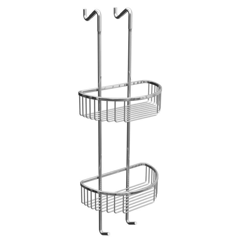 Hanging Double Round D-Shaped Soap Caddy - BSK012