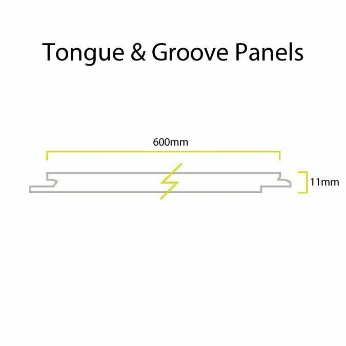 Bushboard Nuance Tongue & Groove Panels - 2420mm x 600mm x 11mm