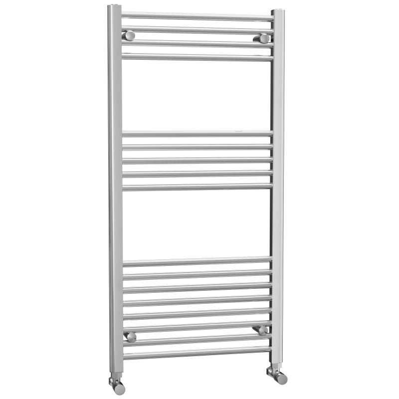 Chrome Flat Heated Towel Rail 1200x600mm - FHTR6/12