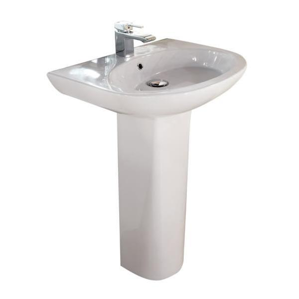 Infinity 60cm Basin with Full Pedestal - INF60BAS1-INFPED