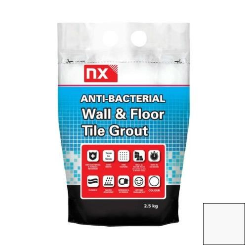 NX Anti-Bacterial Wall & Floor Tile Grout - Oxford Stone 2.5kg - NX02KGGTNMOSM06
