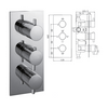 Madison Concealed Thermostatic Shower Valve, 3 Handle 2 Outlet - 029.36.006