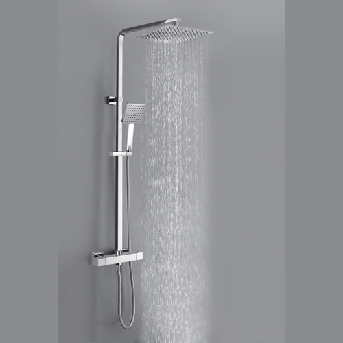 Square Thermostatic Shower Valve with Adjustable Rigid Riser - 029.38.001