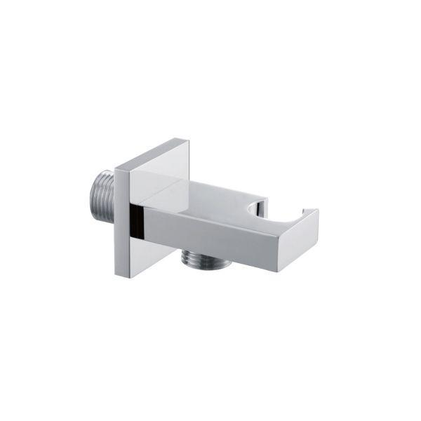 Square Shower Handset Wall Bracket with Outlet - 029.47.004
