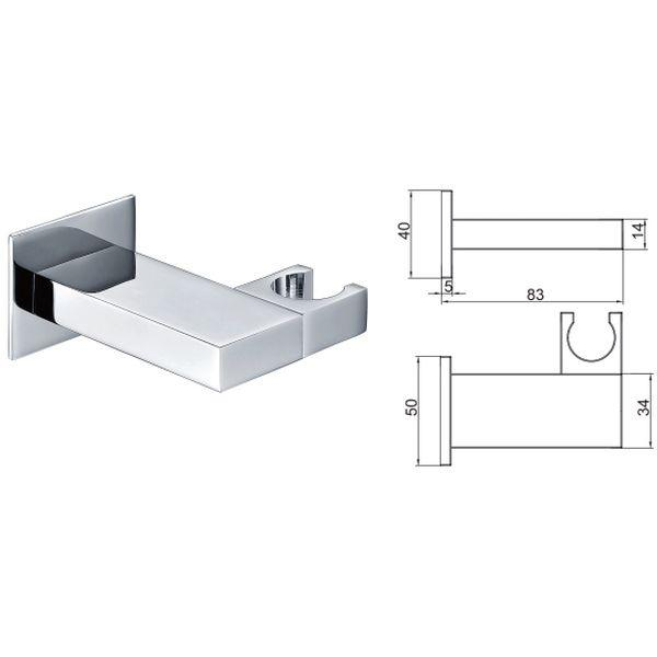 Square Adjustable Handset Wall Bracket - 029.47.006