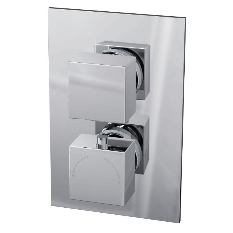 Istra Twin Square Concealed Thermostatic Shower Valve - TSCV01