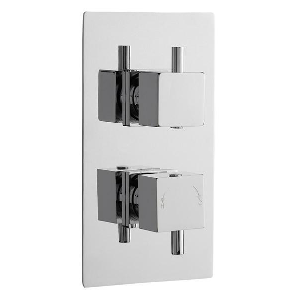 Pioneer Square Twin Thermostatic Shower Valve - JTY398