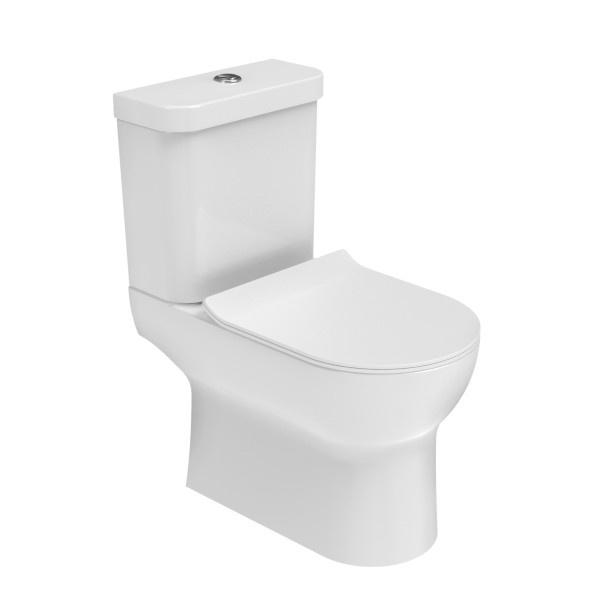Saneux Air Rimless Close Coupled Pan, Cistern & Soft Close Seat - AIR77/AIR71/AIR78