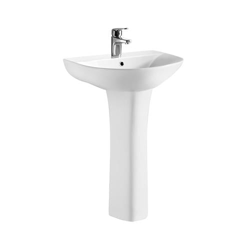 Ultra Freya 560mm 1TH Basin & Pedestal - NCG300